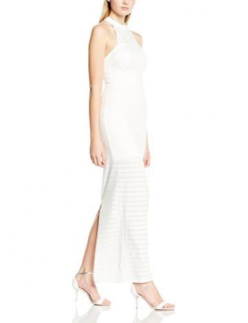 Michelle Keegan Damen Schlauch Kleid Thick Thin Stripe Maxi, Gr. 34 (Herstellergröße: Size 8), Weiß - 1