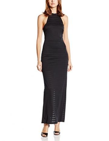 Michelle Keegan Damen Schlauch Kleid Thick Thin Stripe Maxi, Gr. 36 (Herstellergröße: Size 10), Schwarz - 1