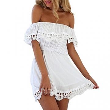 Minetom Damen Sommerkleid strandkleider Ärmellos Rückenfrei Kleid Rock Partykleid Cocktaikleid (EU M) -