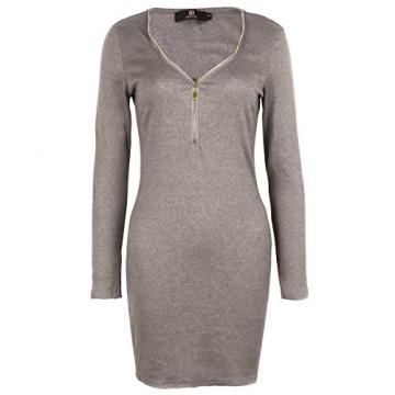 Mini Kleid mit tiefer V-Kragenschnitt -