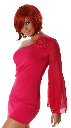 Minikleid asymmetrisch mit einem Arm, pink Größe 32 34 36 -