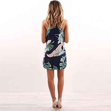 Minikleid Freizeitkleid A Linien Ärmellos Rundkragen Retro Blumendrucken Ethno-Style Sommerkleid Strandkleid Kleidchen Kurz Sommer Damen -