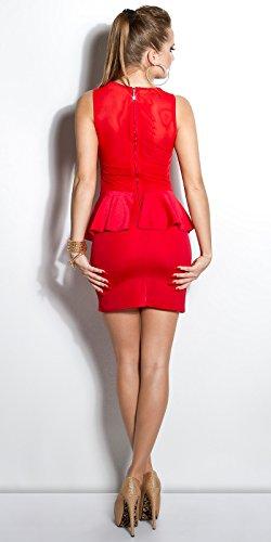 Minikleid mit Schoesschen by In-Stylefashion rot -