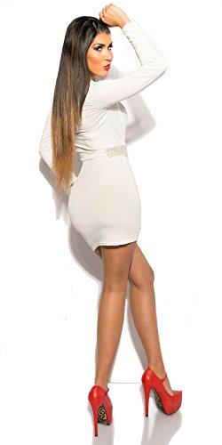 Minikleid weiß Einheitsgröße: 34-38 - 2