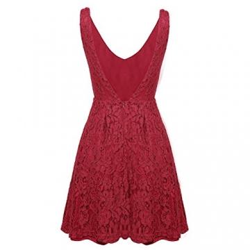 Kleid v ausschnitt rucken spitze