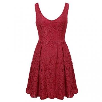 MIOIM® Damen Kleid Rücken Tief V Ausschnitt Spitze Sommerkleid Blumenmuster Kurz Kleid Abendkleid mini Dress -