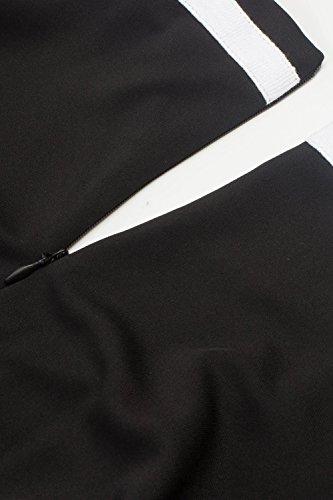 MisShow Damen elegant 50er Jahre Petticoat Kleider Gepunkte Rockabilly Kleider Cocktailkleider - 3