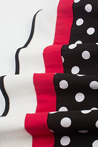 MisShow Damen elegant 50er Jahre Petticoat Kleider Gepunkte Rockabilly Kleider Cocktailkleider - 4