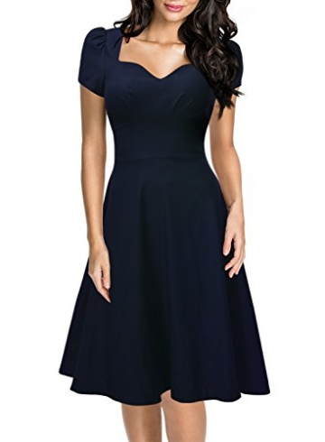 uk availability d7100 34235 Missmay Damen Knielang V-Ausschnitt Business Abendkleid Festlich