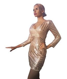 Missord Damen Cocktail Kleid Gold oro M - 1