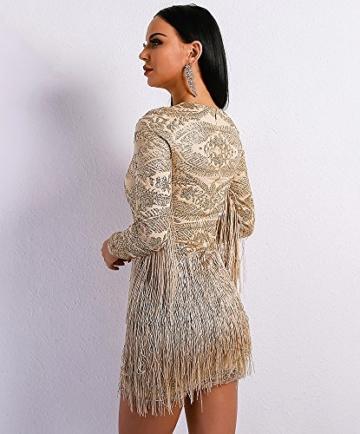 Missord Damen Cocktail Kleid Gr. Large, Gold - 5