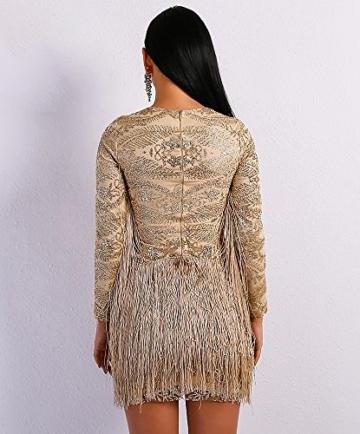 Missord Damen Cocktail Kleid Gr. Large, Gold - 6
