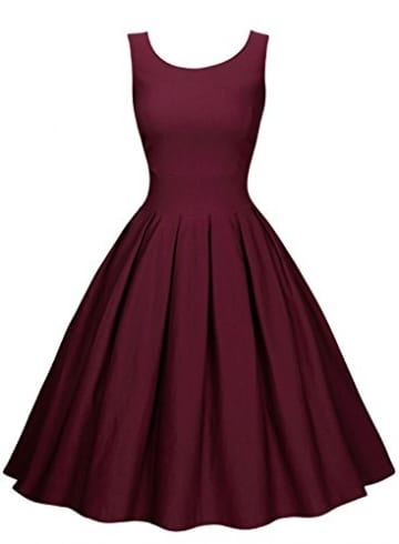 low priced 70f12 fff40 Miusol Damen Elegantes Rundhals Cocktailkleid