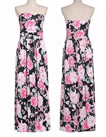 MODETREND Damen Bandeau Bustier Kleider mit Blüte ,  bunt, M -