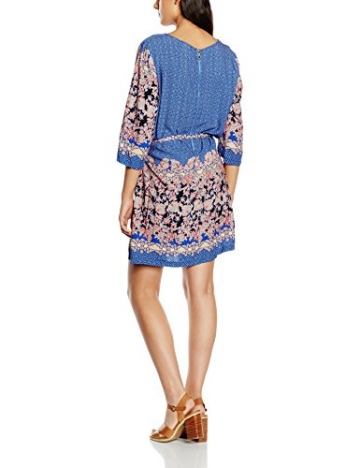 Molly Bracken Damen Skater Kleid, Geblümt Gr. 36, Blau - Blau (Blue) -