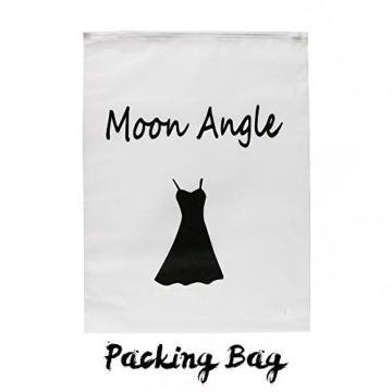 Moon Angle Sexy Low Cut Minikleid Abendkleid Cut Out Cocktailkleid Business Kleid Dress (L, Weiß) - 5