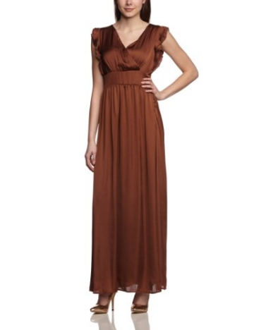 More & More Damen Cocktail Kleid Kleid 1-tlg. lang, Maxi, Einfarbig, Gr. 38, Braun (original) - 1