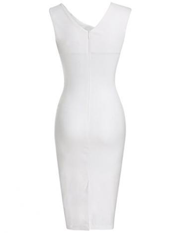 b60156b78fb9 MUXXN Damen Bleistiftkleid V-Ausschnitt Etuikleid Ärmellos Knielang Retro Abendkleid  Business Kleid(M,