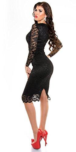 MyNextDress Sexy Spitzen Midi Dress Größe S M 36 38 Schwarz (S/36) - 4