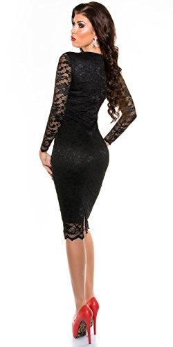 MyNextDress Sexy Spitzen Midi Dress Größe S M 36 38 Schwarz (S/36) - 6