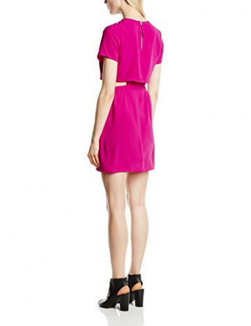 Neon Rose Damen Dekolletiertes, Kleid, Cut Out Dress, GR. 34 (Herstellergröße: Size 8), Violett (Plum) - 2