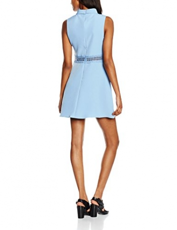 New Look Damen Kleid Crochet Waist, Blau (Dunkelblau), 36 -