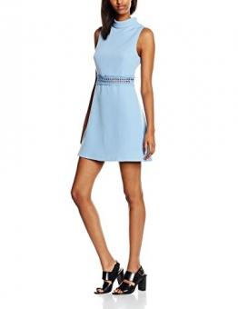 New Look Damen Kleid Crochet Waist, Blau (Dunkelblau), 36 -