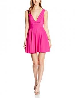 New Look Damen Kleid Plunge Front, Rosa (Bright Pink), 36 -