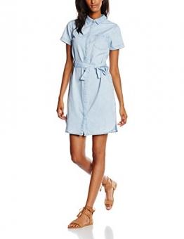 New Look Damen Kleid Rainbow Denim Midi Shirt, Blau (Mid Blue), 36 (Herstellergröße: 8) -
