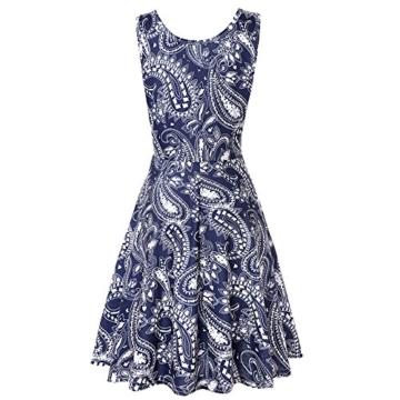 NINGSANJIN Damen Elegant Ärmellos Kleid Freizeit Mini Kleid Bluse Tank Tops T-Shirt Hemden Leicht und Luftig Rock im Herbst und Winter (L, Marine) - 2