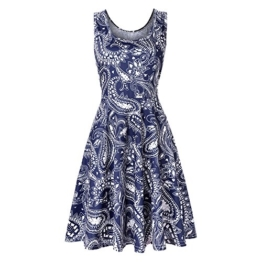 NINGSANJIN Damen Elegant Ärmellos Kleid Freizeit Mini Kleid Bluse Tank Tops T-Shirt Hemden Leicht und Luftig Rock im Herbst und Winter (L, Marine) - 1