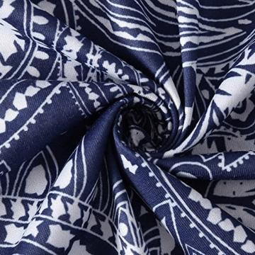 NINGSANJIN Damen Elegant Ärmellos Kleid Freizeit Mini Kleid Bluse Tank Tops T-Shirt Hemden Leicht und Luftig Rock im Herbst und Winter (L, Marine) - 6