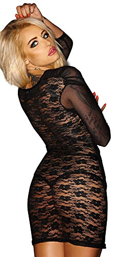 Noir Handmade Clubwear Damen-Kleid aus Tüll Partykleid Größe XX-Large - 2
