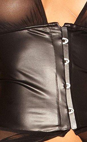 Noir Handmade Clubwear Damen-Kleid aus Tüll und Wetlook Partykleidung Größen S - 2