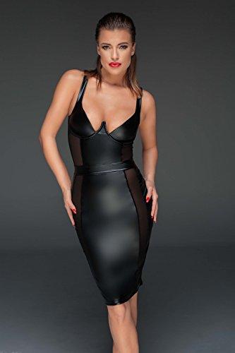 Noir Handmade Damen Tüll-Minikleid aus Powerwetlook M - 2