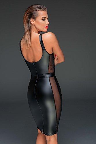 Noir Handmade Damen Tüll-Minikleid aus Powerwetlook M - 4