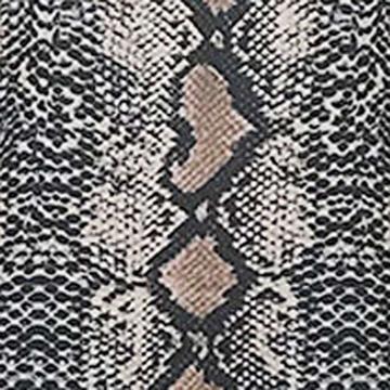 NPRADLA Damen Bodysuit Herbst Langarm Rollkragen Elegant Lady Figutbetont Strampler Shirt Schlangenhaut Schlangen Muster Stretch Club Wear Basic Overalls Playsuit - 7