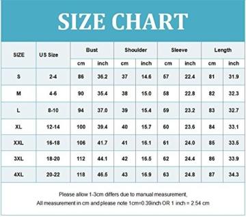 OMZIN Damen Sommerkleid Lockeres Shirtkleid Basic Longshirt Rund Ausschnitt T-Shirtkleid,Rot,S - 3