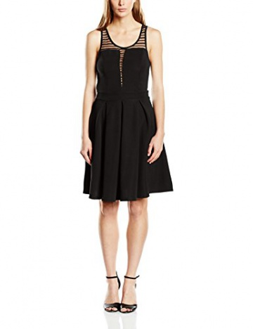 ONLY Damen A-Linie Kleid Onlzoom S/l Dress Jrs, Midi, Gr. 38 (Herstellergröße: M), Schwarz - 1