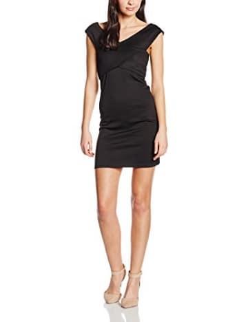 ONLY Damen Kleid onlDARIA SL WRAP DRESS ESS, Mini, Gestreift, Gr. 40 (Herstellergröße: L), Schwarz (Black) -