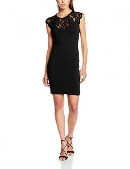 ONLY Damen Kleid Onlelenta S/L Short Dress Jrs, Schwarz (Black), 40 (Herstellergröße: L) -