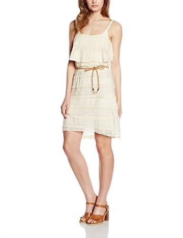 ONLY Damen Kleid Onleliana S/L Dress Jrs, Weiß (Whisper White), 38 (Herstellergröße: M) -