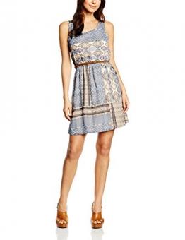 ONLY Damen Kleid Onllia Lace Aop S/L Dress, Mehrfarbig (Pumice Stone Aop:Desert Deluxe Tiles Pumic Stone), 40 -