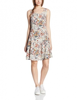 ONLY Damen Kleid Onlnova Bright Skater Dress Wvn, Mehrfarbig (Whitecap Gray Aop:Bright Autumn Flower), 34 -