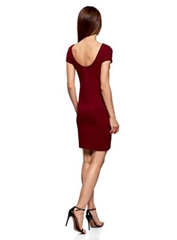 oodji Collection Damen Enges Kleid mit Tiefem Ausschnitt am Rücken, Rot, DE 40 / EU 42 / L - 2
