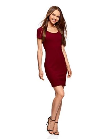 oodji Collection Damen Enges Kleid mit Tiefem Ausschnitt am Rücken, Rot, DE 40 / EU 42 / L - 5