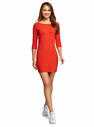 oodji Ultra Basic Mini Kleid Orange 1