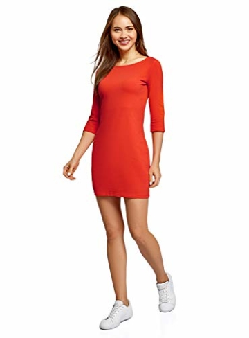 oodji Ultra Basic Mini Kleid Orange 5