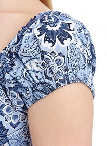 oodji Ultra Damen Druckkleid aus Baumwolle, Blau, S / EU 38 (DE 36) -
