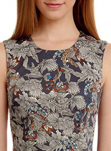 oodji Ultra Damen Druckkleid aus Baumwolle, Schwarz, S / EU 38 (DE 36) -
